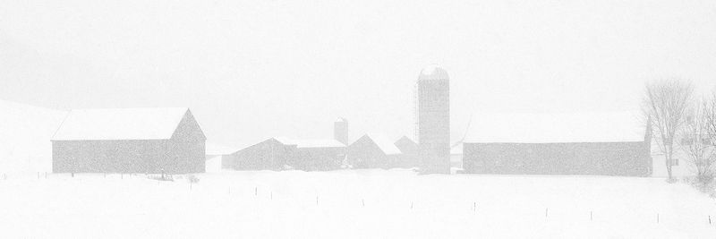 Meetinghouse Farm in Snow